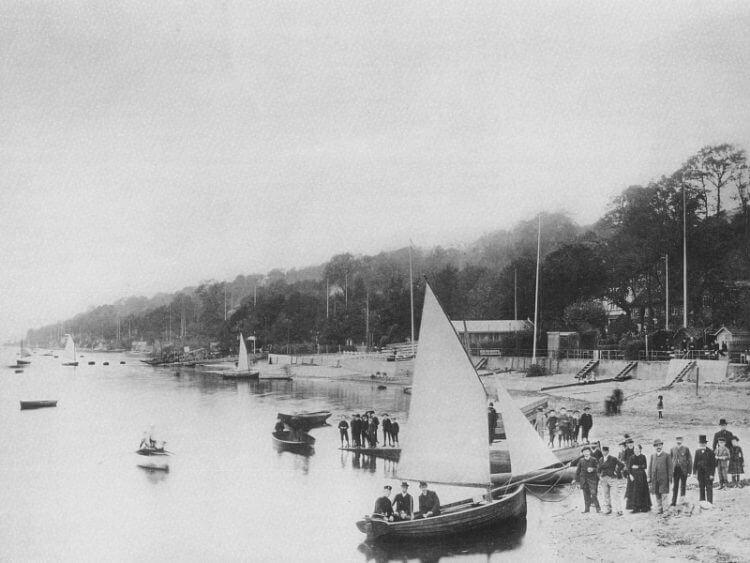 Strand bei Övelgönne um 1889