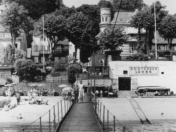 Bootshaus Lührs 1955